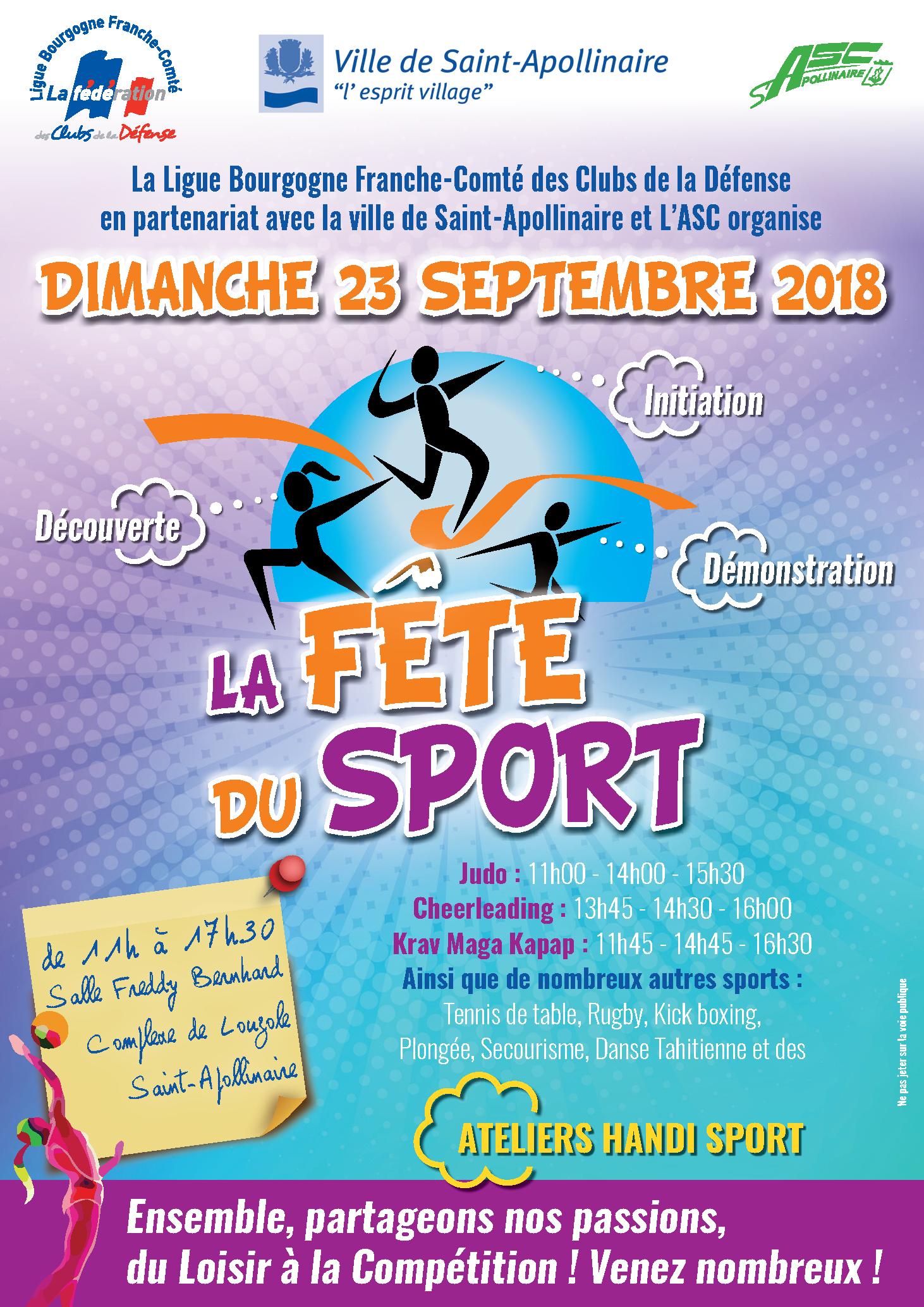 Flyer Affiche Fete Du Sport La Federation Des Clubs De La Defense